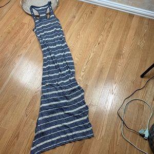 Madewell Striped Linen Maxi Jersey Dress Sundress